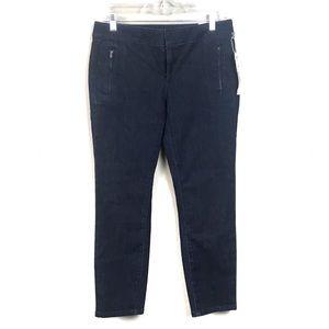 New with tags loft modern crop jeans dark wash 2